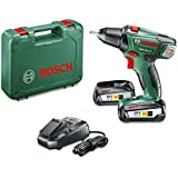 Bosch PSR 18 LI-2 Cordless 18v Drill Driver with 2 x 2.5 Ah Lithium-ion Batteries and Charger