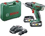 Bosch Cordless Drill Driver PSR 18 LI-2 (2 Batteries, 18 Volt System, 2.5 Ah, in Case)