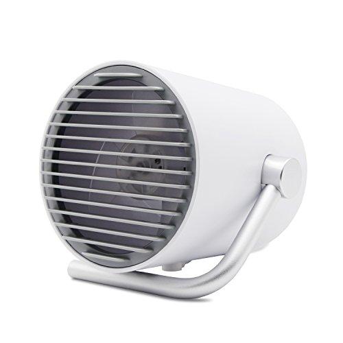 【一流デザイン、見た事のない美しさ】 Relohas USB扇風機 卓上ファン 二重羽根反転 静音 タッチスイッチ 風量2段階調節 パワフル送風 クリエイティブ付き (ホワイト)