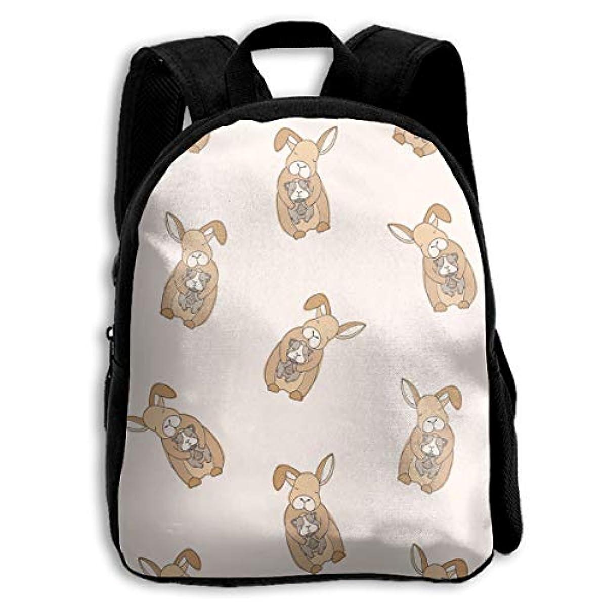 デモンストレーション技術的な一般的に言えばキッズ リュックサック バックパック キッズバッグ 子供用のバッグ キッズリュック 学生 動物柄 ウサギ アウトドア 通学 ハイキング 遠足