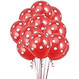 Bestoyard 風船 赤 バルーン 飾り付け 誕生日 パーティー 結婚式 お祝い イベント 装飾 水玉 12インチ ラテックス風船 25個セット