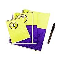 3種類のサイズのスパイラルノートブックポケット付き、70シート、ペンを送信