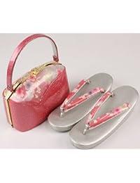 振袖から訪問着まで 桜柄 草履バッグセット 2Lサイズ S-2