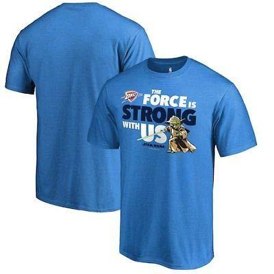 NBA Oklahoma City Thunder Fanatics Branded Star Wars Jedi Strong T-Shirt - Blue 半袖Tシャツ(ナショナル・バスケットボール)【並行輸入品】