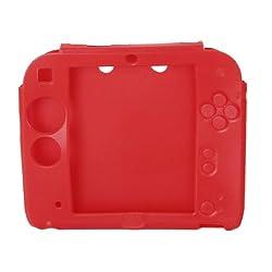 【ノーブランド品】シリコン製 保護ケース プロテクトケース Nintendo 2DSに適用 レッド