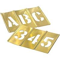 ステンシル 真鍮製プレート 英数字 45ピースセット 1/2インチ 1.2cm