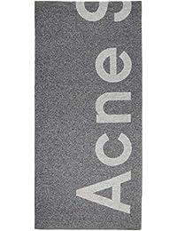 (アクネ ストゥディオズ) Acne Studios レディース マフラー?スカーフ?ストール Grey Toronty Logo Scarf [並行輸入品]