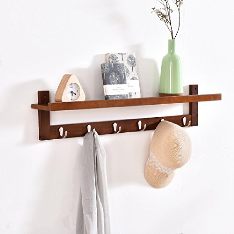 壁掛けコートラック、壁掛けコートフック、ベッドルームリビングルーム入り口創造性シンプルでモダンな木製の壁掛けコートラック。 (サイズ さいず : 87 * 12.5cm)