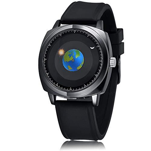 腕時計 メンズ メンズ腕時計 デザイナーズ レザーバンド 30m生活防水 おしゃれ 地球 防水時計 ファッション 通勤 宴会 平日 時計 青少年 20代 カッコイイ