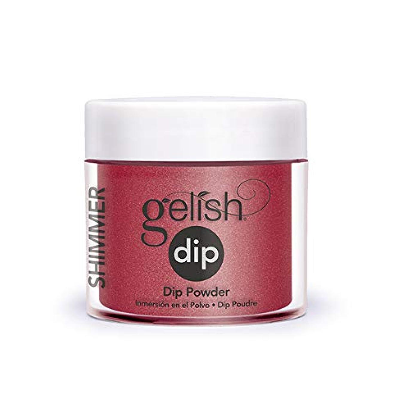 快適凝視フォーカスHarmony Gelish - Acrylic Dip Powder - Ruby Two-Shoes - 23g / 0.8oz