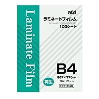 テージー 再生ラミネートフィルム B4 100P RPF-B4D