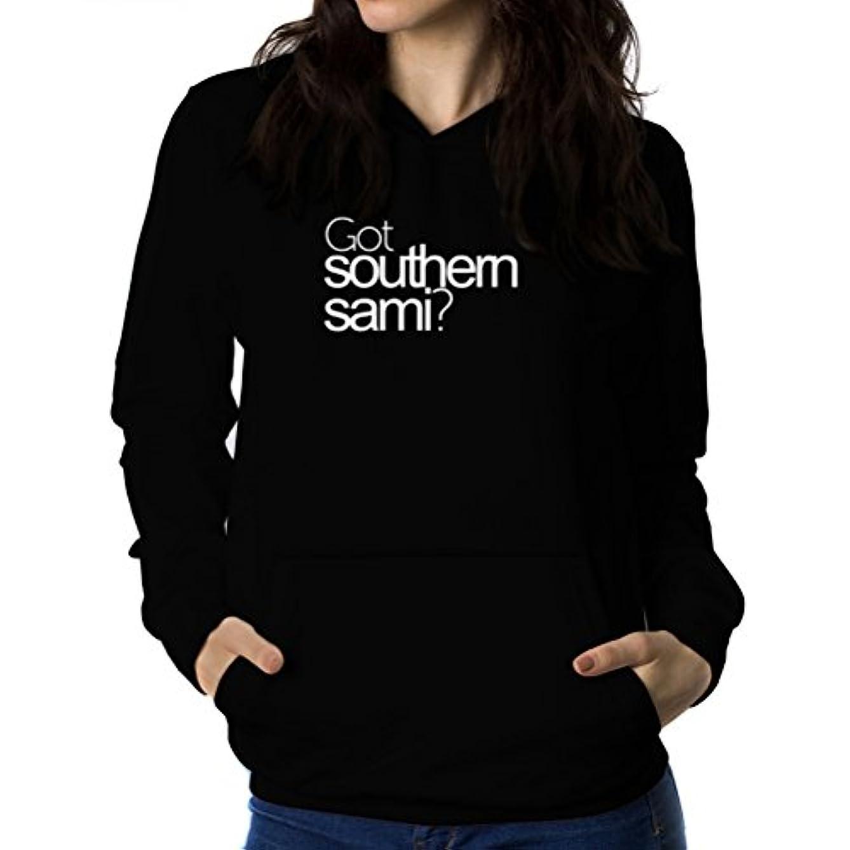 食料品店高揚したシマウマGot Southern Sami? 女性 フーディー