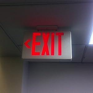 """おしゃれ看板 アメリカンサイン EXIT レッド LED 赤点灯 FROM USA アメリカン 西海岸スタイル オフィス レストラン インテリア ガレージ等 雑貨 """"EXIT"""""""