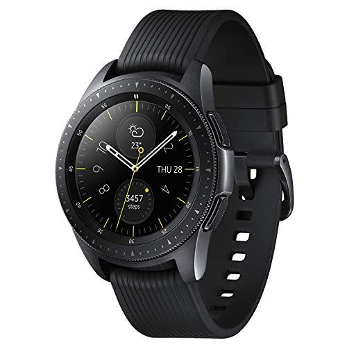 『Galaxy Watch 42mm ミッドナイトブラック【Galaxy純正 国内正規品】 Samsung スマートウォッチ iOS/Android対応 SM-R81010118JP』の1枚目の画像