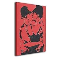 Banksy バンクシー キス アートポスター インテリア ポスター アートパイル おしゃれ 北欧 インテリア 壁アート 40x50cm 風景画 現代壁の絵 キャンバス絵画 印刷布製(木枠付きの完成品)
