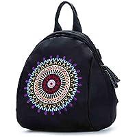 CXQ 文学新鮮な女性のバックパック黒カジュアルなバックパック国家ライトバックパック旅行のバックパック