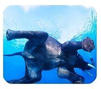 PM367水の中のかわいい動物ゾウおかしなユニークなカスタムマウスパッドマウスパッド
