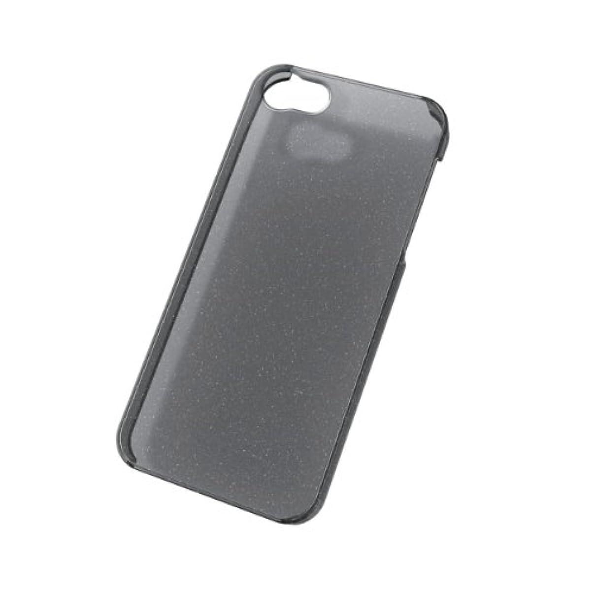 転用いつも広告ELECOM iPhone5用 シェルカバー ラメ入り クリアブラック PS-A12PVBBKC