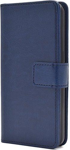 PLATA Galaxy Feel SC-04J ケース 手帳型 アローズ カラー レザー スタンド ポーチ 手帳 カバー 【 ブルー 青 あお blue 】 DSC04J-77BL