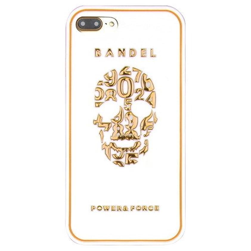 共産主義者延期するストレスの多いバンデル(BANDEL) スカル iPhone 7 Plus専用 シリコンケース [ホワイト×ゴールド]