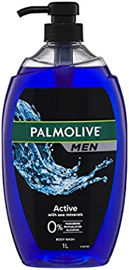 Palmolive Men Active Body Wash With Sea Minerals 0% Parabens Recyclable, 1L
