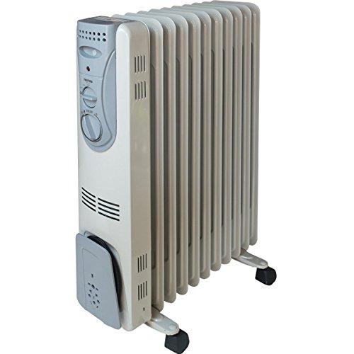 オイルヒーター 11枚フィン ※1200/700/500W 3段階切替式 (~8畳用、サーモスタット/自動温度調節機能付)