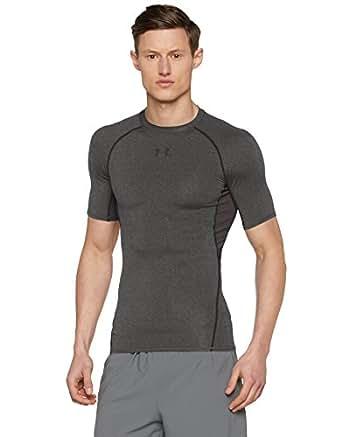 (アンダーアーマー) Under Armour ヒートギア アーマーショートスリーブコンプレッションシャツ  メンズ グレー