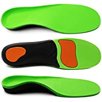 ERGOfoot Arch Supports Orthotic Insoles for Flat Feet Fight Against Plantar Fasciitis,Relieve Pronation Heel Ankle Foot Pain for Women Men [L]