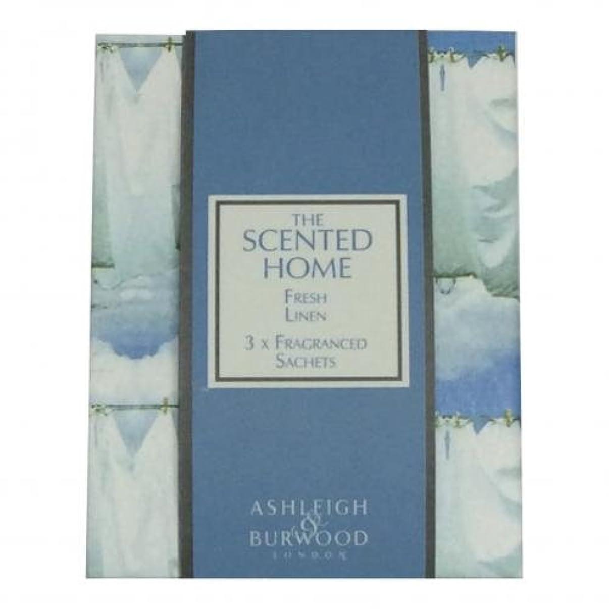洗剤ヒギンズ書誌Ashleigh&Burwood サシェ×3個 フレッシュリネン Sachet×3 Fresh Linen アシュレイ&バーウッド