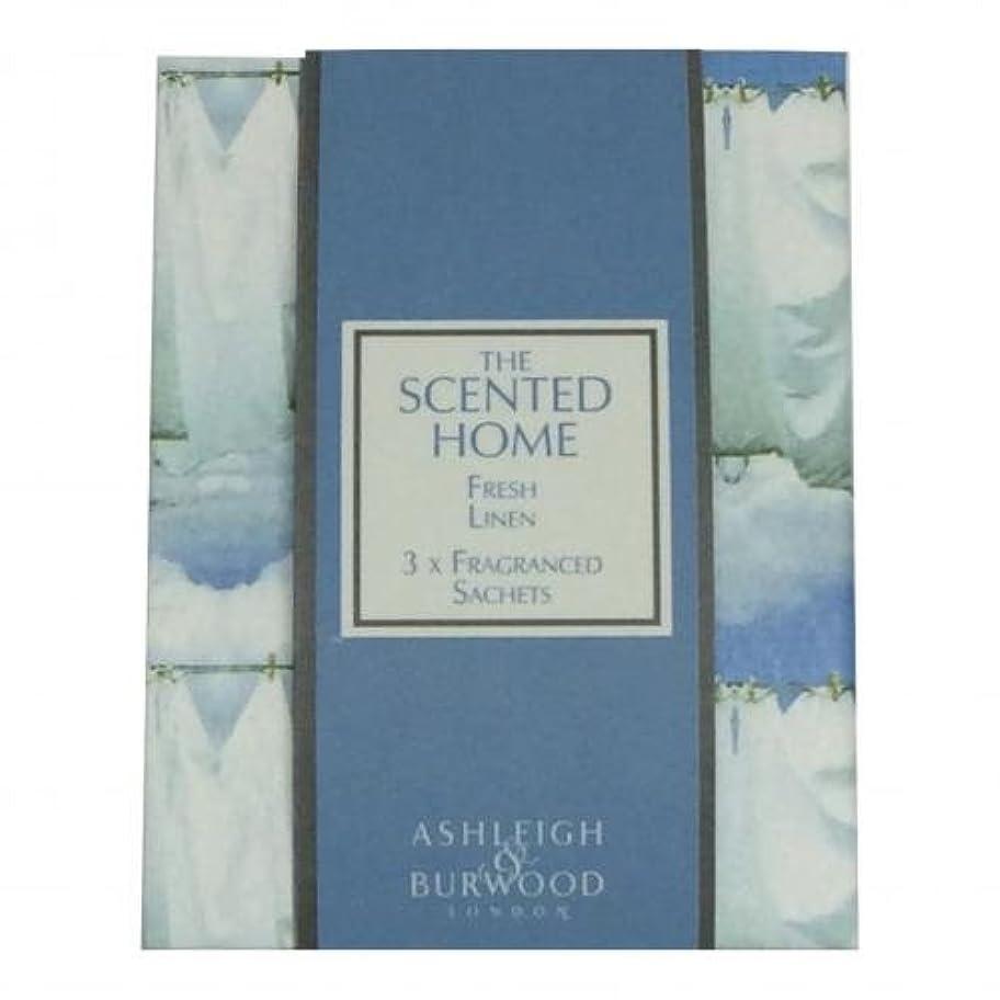 歴史磁気色Ashleigh&Burwood サシェ×3個 フレッシュリネン Sachet×3 Fresh Linen アシュレイ&バーウッド