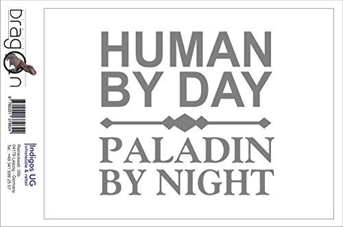 ステッカー‐自動車用ステッカー - Sticker / Decal - JDM - Die cut - Human By Day Paladin By Night Decal Window Sticker - シルバー - 96mmx88mm INDIGOS UG