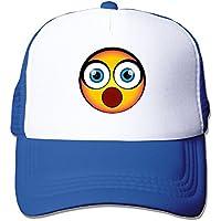 ベースボール 帽子 通勤族 Emoji 絵文字 顔 驚き アウトドア 日よけ おしゃれ速乾 シンプル やすい ブルー