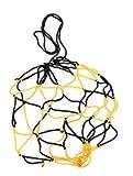 Hommy簡易ボールバッグケース 網袋 サッカー/バレーボール/バスケットボール用 ブラックとイエロー