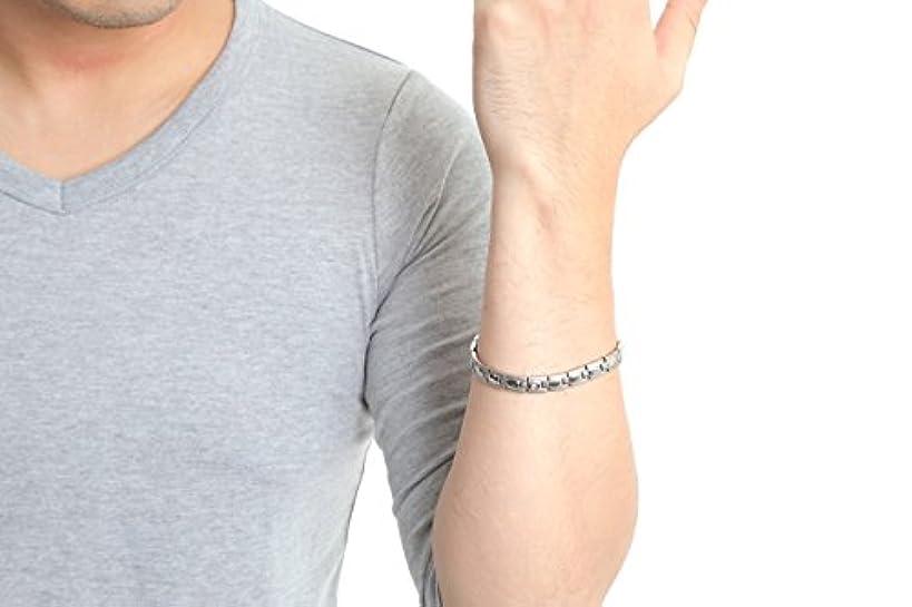 オーバードロー確かにアカデミック新品 肩こり解消 ゲルマニウムブレスレット ダイヤ入り 高純度ゲルマ球17球付 男女兼用