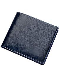 メンズ財布スリムミニフロントポケット二つ折り財布レザー財布