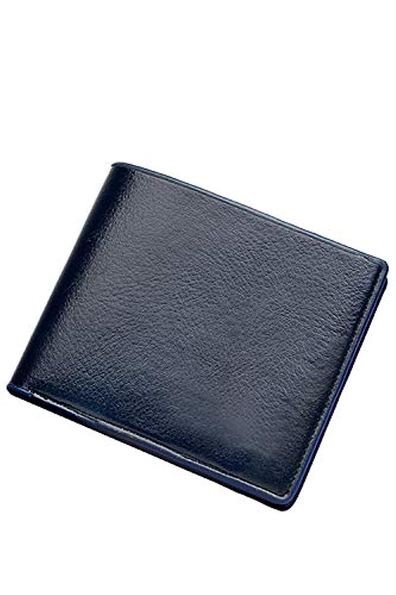 ジョガー広々とした航空便メンズ財布スリムミニフロントポケット二つ折り財布レザー財布