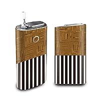 グローシール glo グロー ケース 電子タバコ グロー タバコ グロー シール gloステッカー glo シール スキンシール カバー ステッカー 電子たばこ タバコケース 煙草 木目2 (B) glo-q0004-e0342-n