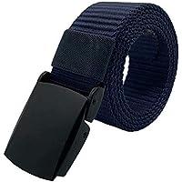 JINIU Men's Belt Nylon Military Tactical Men Webbing Canvas Outdoor Web Belt with High Strength Buckle