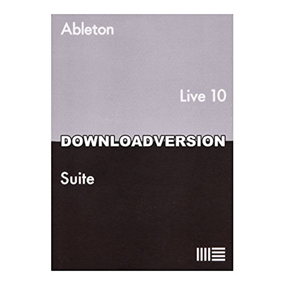雨の上に築きます属性Ableton Live10 Suite アップグレード版 from [Live10 Standard] 楽曲制作ソフト【ダウンロード版】 エイブルトン