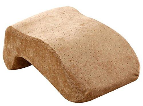 机 の 上 で お昼寝 できる 低反発 卓上 携帯 枕 トラベル クッション (ブラウン)