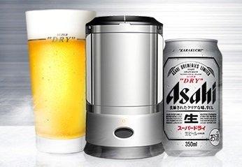 [홈파티용 맥주서버] 아사히 슈퍼 드라이 실키포머 초음파 진동 세트 2017년 판 350ml 컵