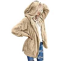 Lookbook Store Women's Oversized Open Front Hooded Draped Pockets Cardigan Coat