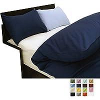 シンプルカラー15色 ベッド用ボックスシーツ セミダブルサイズ 120×200×35cm : オアシス(アイボリーホワイト)