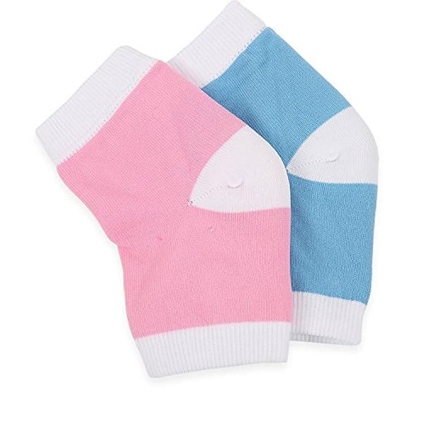 【Ban Ban Corp.】かかと ひび割れ つるつる 角質 保湿 ケア 靴下 ソックス (2足セット)