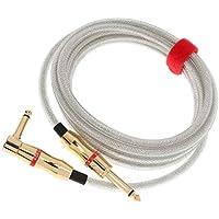 F Fityle 1/4インチ 直角ギター用 楽器ケーブル ギターケーブル 300cm 静電容量低 銅線 高音質導体