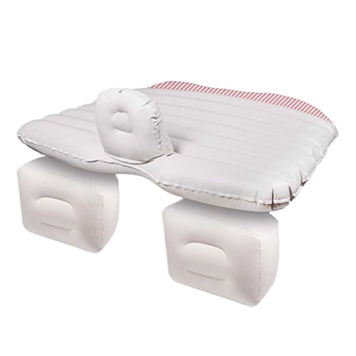 船外プレミアム低下QL エアベッド - 車の空気ベッド多機能旅行キャンプ旅行睡眠の残りの車の空気ベッドのベッドの車のリアショックアブソーバー旅行のクッションの家の睡眠パッド多機能旅行キャンプの睡眠の残りのSUV折りたたみポータブル エアマットレス (Color : White)