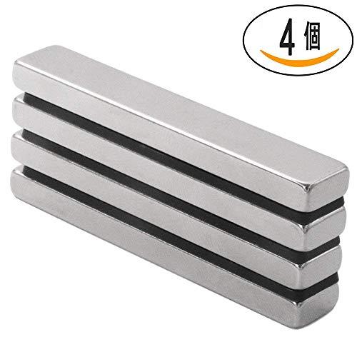 4ピースの超強力な長方形ブロックネオジム磁石、DIY、建築、...