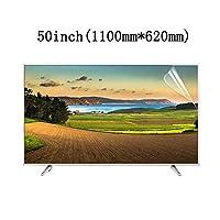 LSYOA スーパークリアつや消しテレビ画面プロテクター、テレビ保護パネル アンチスクラッチ 目の保護 スクリーン保護フィルム LCD、LED、OLED、QLED 4K HDTV向け,50in