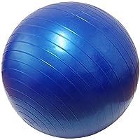 バランスボール 65cm フットポンプ付き ダイエット骨盤ヨガボール ブルー