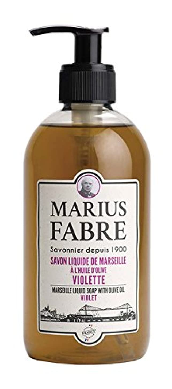 ロマンチック咲く野心的サボンドマルセイユ 1900 リキッドソープ バイオレット 400ML